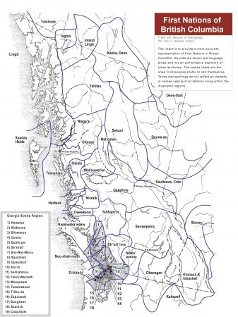 Map of First Nations of British Columbia
