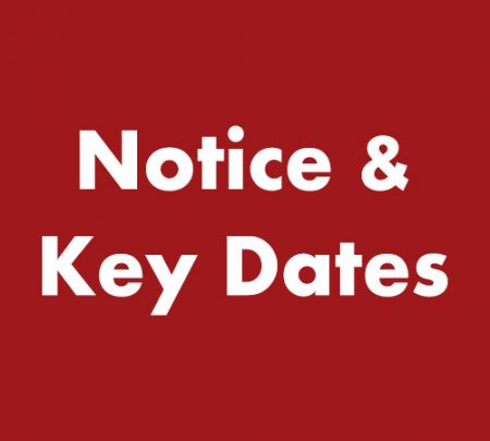 Notice and Key Dates